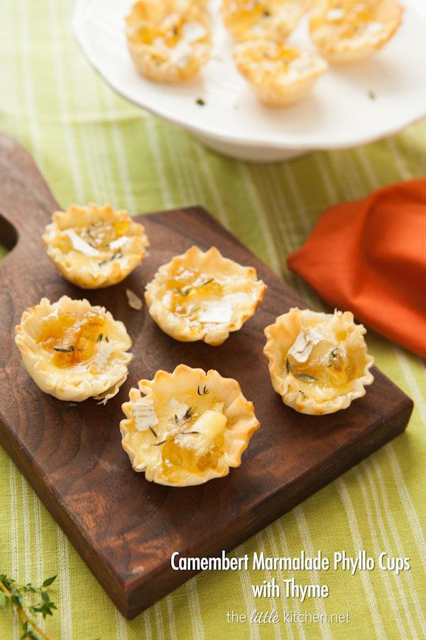Camembert Marmalade Phyllo Cups