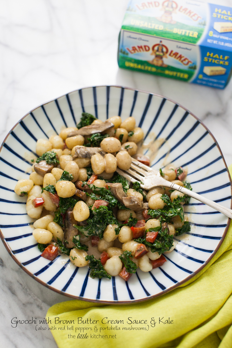 Gnocchi with Brown Butter Cream Sauce & Kale